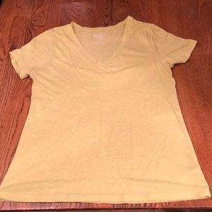 Yellow v-neck t-shirt